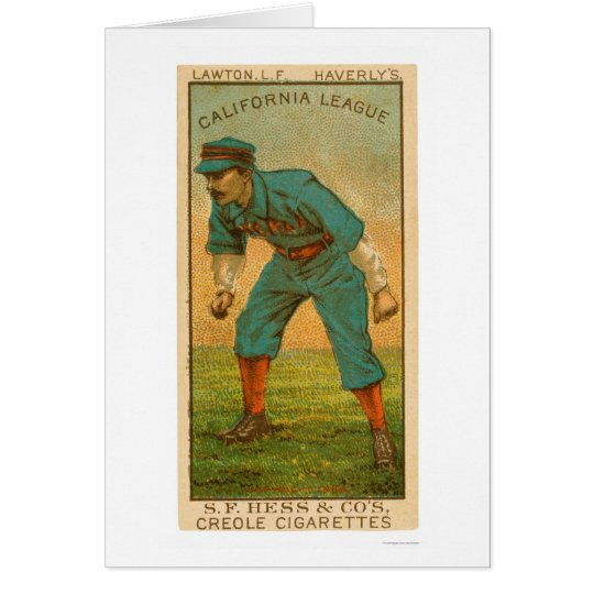California League Baseball 1888 Card