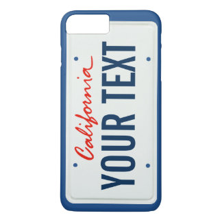 california license plate cell phone case