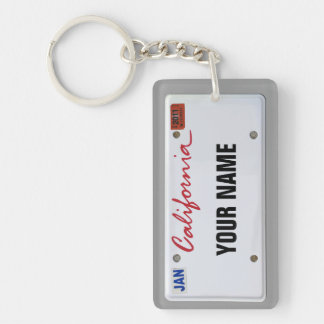 California License Plate customizable Acrylic Keychains