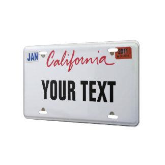 California License Plate License Plate