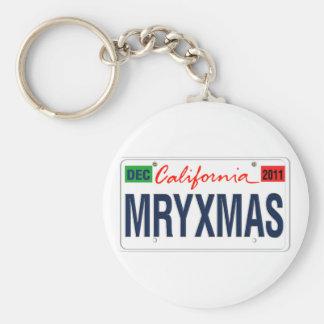 California License Plate Merry Xmas 2011 Key Chain