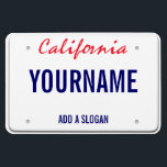 "California License Plate (personalized) Magnet<br><div class=""desc"">California License Plate (personalized)</div>"