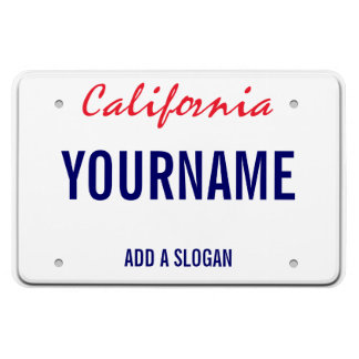 California License Plate (personalized) Vinyl Magnet