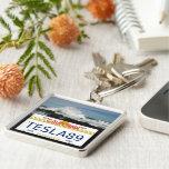 California license Silver-Colored square keychain