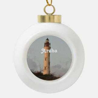 California Lighthouse Ceramic Ball Christmas Ornament