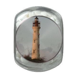 California Lighthouse Glass Candy Jar