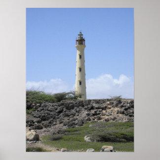 California Lighthouse in Aruba Posters