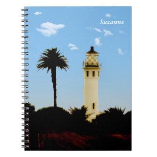California Lighthouse & Palm Tree Notebook