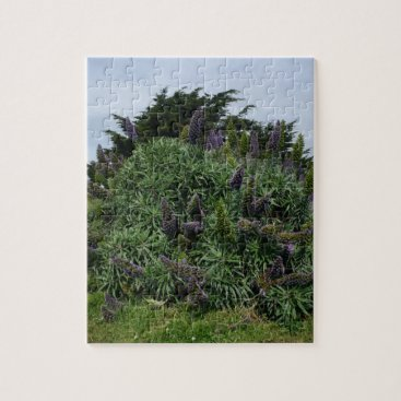 Beach Themed California Lilac Jigsaw Puzzle