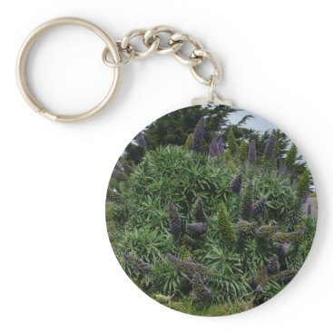 Beach Themed California Lilac Keychain