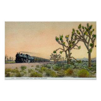 California Limited Train Travelling Through Poster