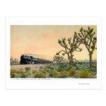 California limitó el tren que viajaba a través tarjetas postales