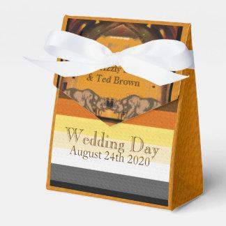 California lleva la caja gay del favor del boda paquetes para detalles de bodas