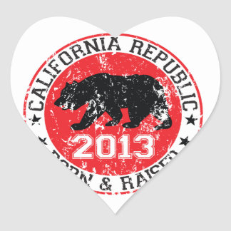 California llevada y aumentó 2013 pegatina en forma de corazón