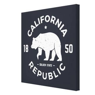 California Logo   The Golden State Canvas Print