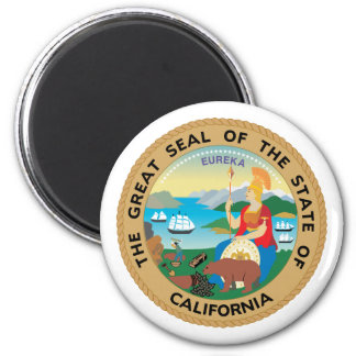 California, los E.E.U.U. Imán Redondo 5 Cm