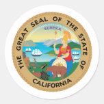 California, los E.E.U.U. Pegatina Redonda