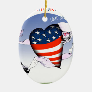 california loud and proud, tony fernandes ceramic ornament