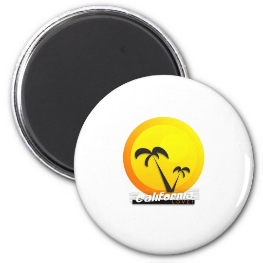 California Love 2 Inch Round Magnet