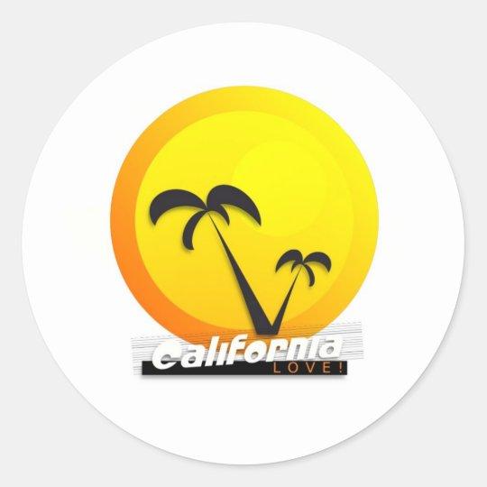 California Love Classic Round Sticker
