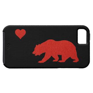 California Love Red Bear & Heart iPhone 5 Case