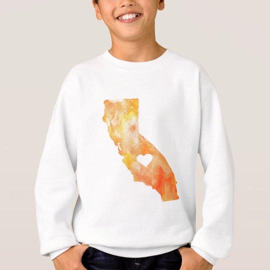 California Love Watercolor Sweatshirt