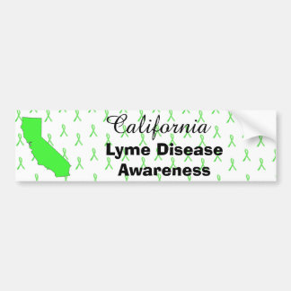 California Lyme Disease Awareness Bumper Sticker