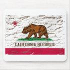 California Machine Washed Retro flag Mouse Pad