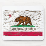 California Machine Washed Retro flag Mouse Pad