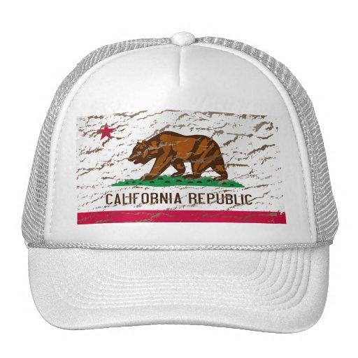 California Machine Washed Retro flag Trucker Hat