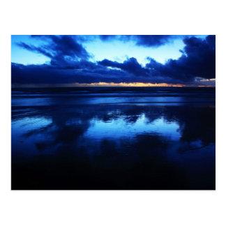 California - Manhattan Beach. Cold Sunset Postcard