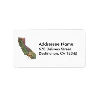 California Map Address Label