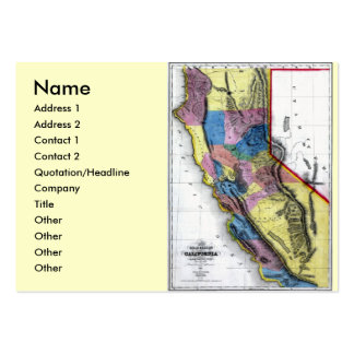 California Map and State Flag Large Business Cards (Pack Of 100)