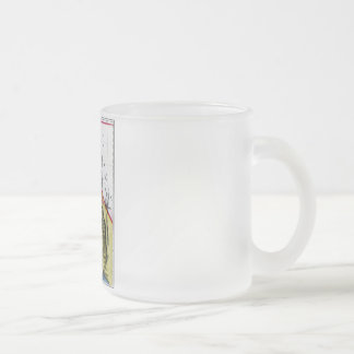 California Map and State Flag Frosted Glass Coffee Mug