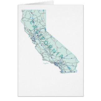 California Map Blank Card