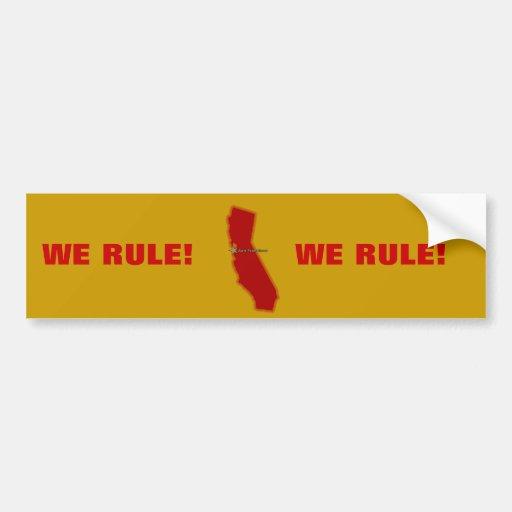 California Map Car Bumper Sticker