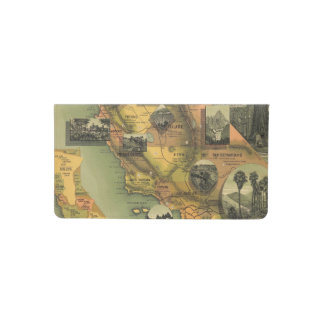 California Map Checkbook Cover
