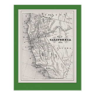 California Map from 1876 Posters