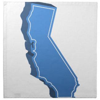 California Map Icon Cloth Napkin