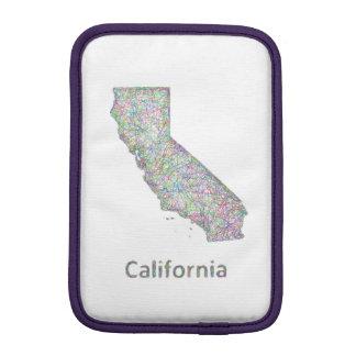 California map iPad mini sleeve