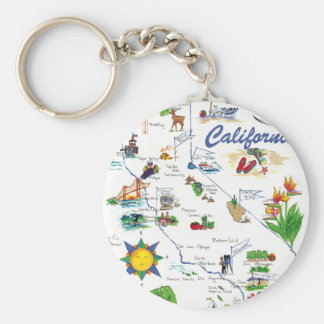 California Map keychain