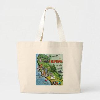 California Map Large Tote Bag