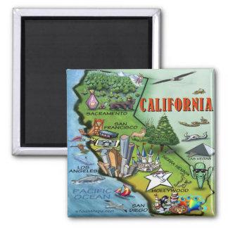 California Map 2 Inch Square Magnet