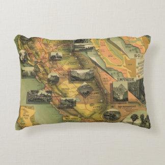 California Map Accent Pillow