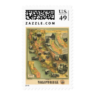 California Map Stamp