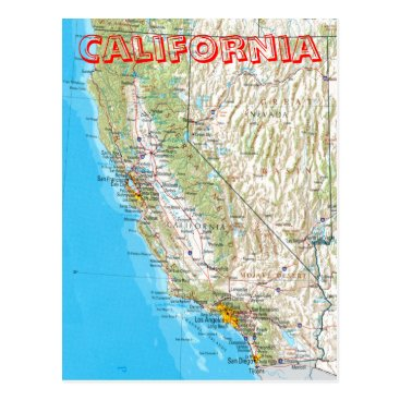 nbiddison California Map Postcard