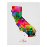 California Map Poster
