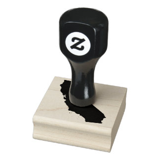 California Map Shape Rubber Stamp