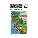 California Map Stamps