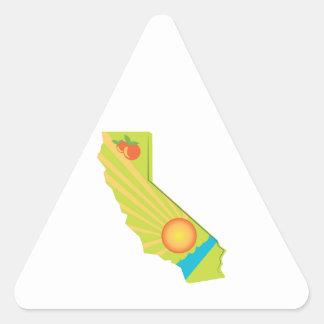 California Map Triangle Stickers